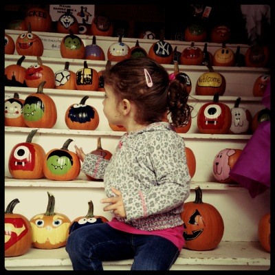 P painted pumpkins